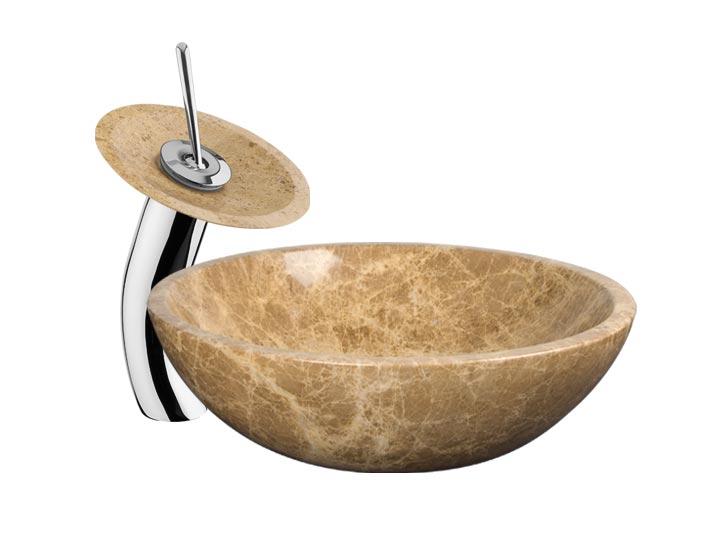 ... Stone Vessel Sink Waterfall Faucet EMLT ...
