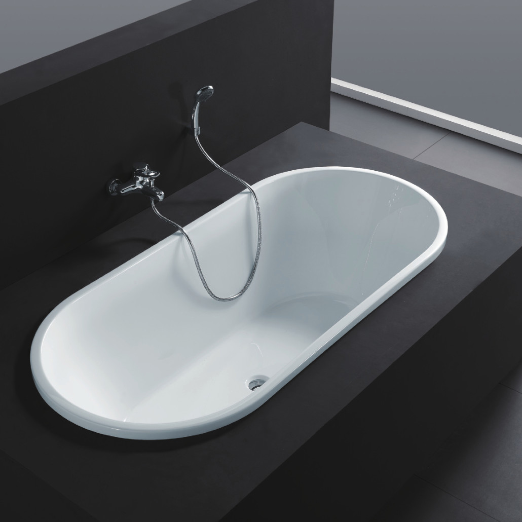 Drain Serenity 70 White Soaking Bathtub Center