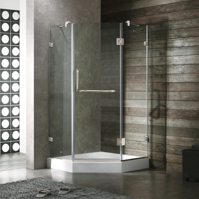 Vigo 36 x 36 Neo-Angle Shower Doors ... & Vigo 36 x 36 Neo-Angle Shower Door space-saving