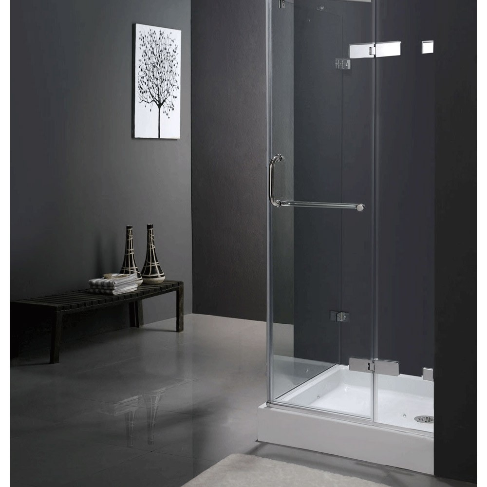 Vigo VG06011 Frameless Square Shower Enclosure, Available 32\
