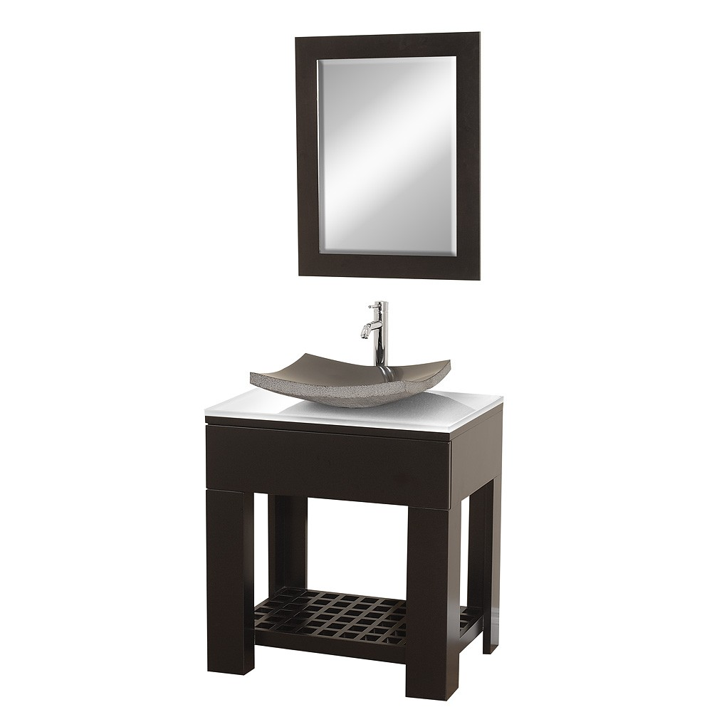 22 quot rioni 22 espresso bathroom vanity bathroom vanities ardi -  Wyndham Collection Zen Ii 30 Bathroom Vanity