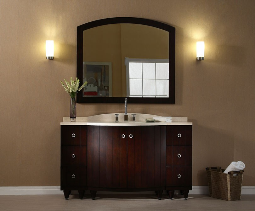 Capri 60 inch dark espresso bathroom vanity for Espresso bathroom ideas