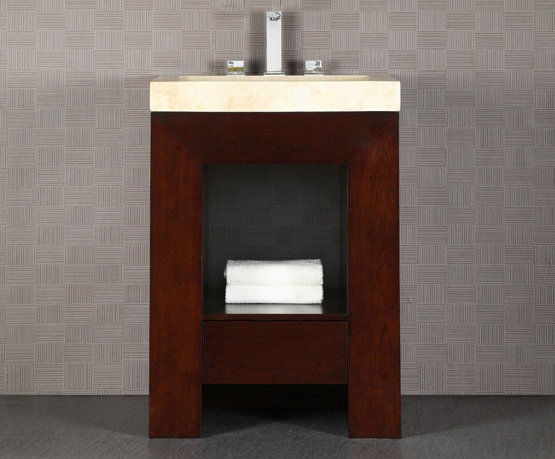 purus 24 inch bathroom vanity dark walnut finish 24 Bathroom Vanity