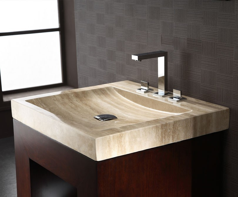 Xylem Bathroom Faucets purus 30 inch bathroom vanity dark walnut finish, plywood with