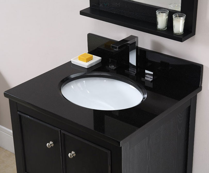 Kent 30 inch traditional bathroom vanity brown ebony finish for Bathroom designs kent
