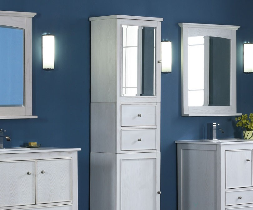 kent 24 inch traditional bathroom vanity whitewash finish. Black Bedroom Furniture Sets. Home Design Ideas