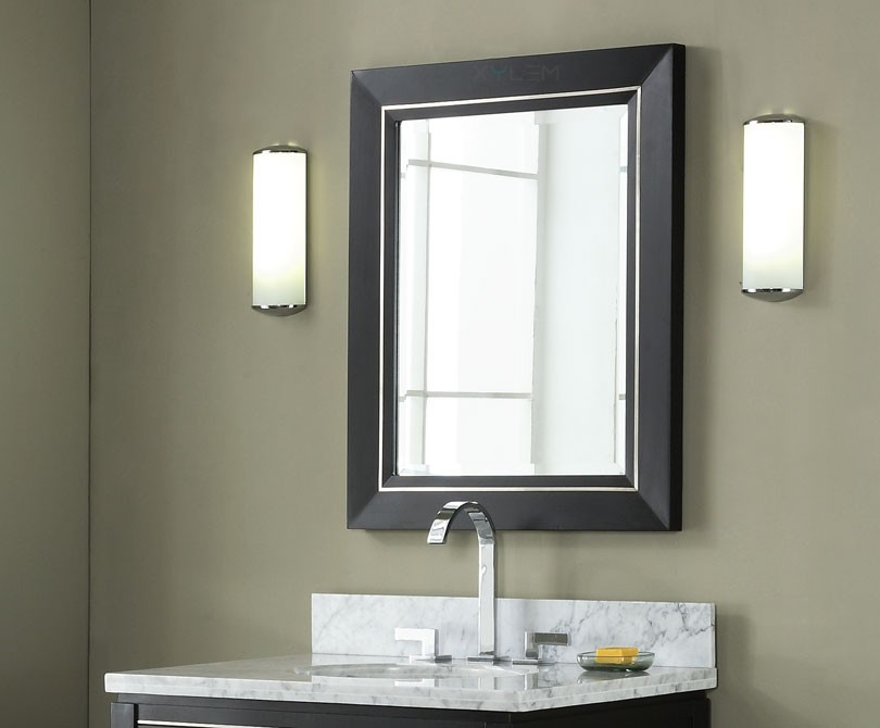 Xylem Manhattan 30 Black Contemporary Bathroom Mirror
