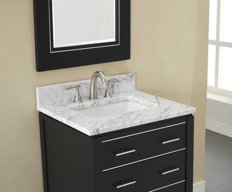 Xylem Manhattan 30 Black Contemporary Bathroom Vanity on bathroom vanity cabinet sizes