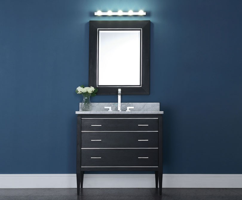Bathroom mirror dimensions - Manhattan 36 Inch Contemporary Bathroom Vanity Black Finish