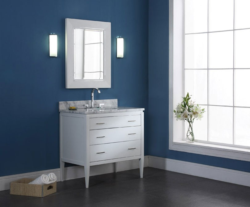 36 inch contemporary bathroom vanity white finish