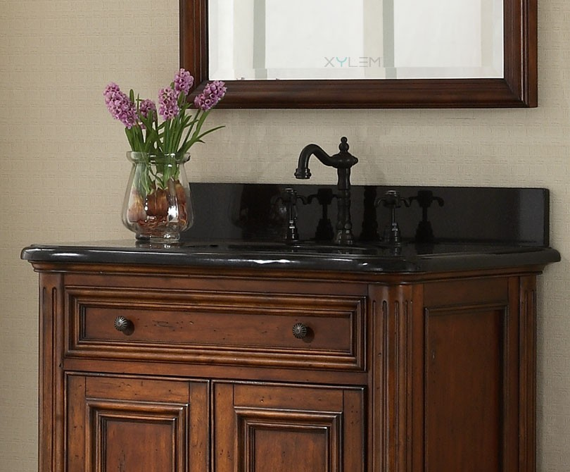 Black Vanities For Bathrooms manor 30 inch vintage single sink bathroom vanity