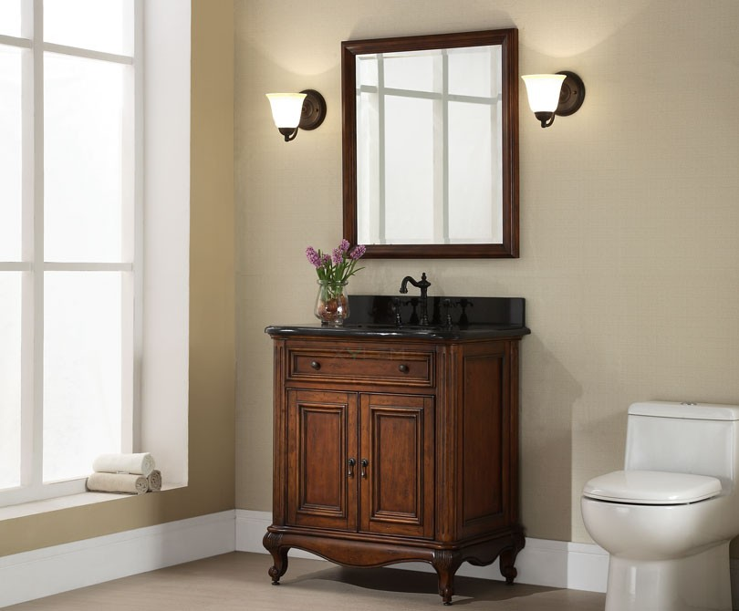 Manor 30 Inch Vintage Single Sink Bathroom Vanity