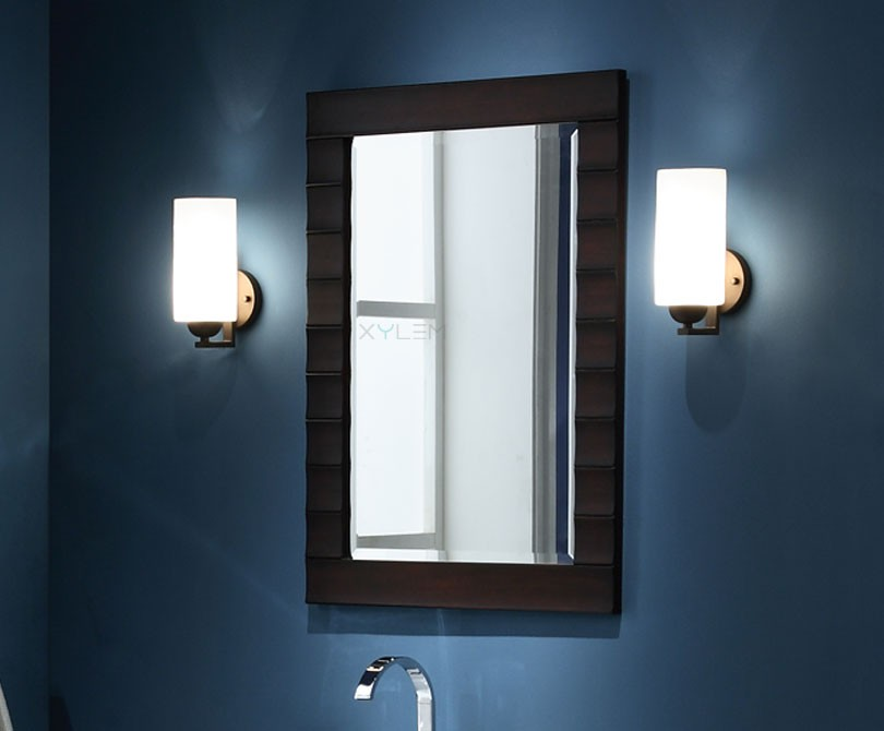 Xylem Wave 42 Contemporary Bathroom Mirror