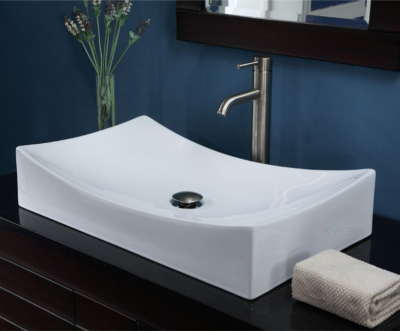 Modern Vanity Tops : Wave inch contemporary dark espresso bathroom vanity