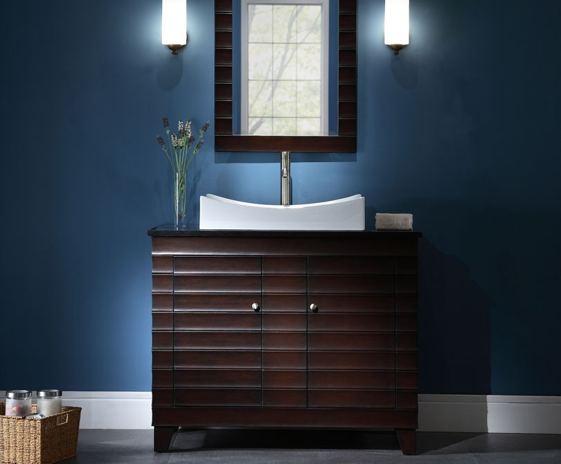 Wave Inch Contemporary Dark Espresso Bathroom Vanity - Contemporary bathroom furniture cabinets