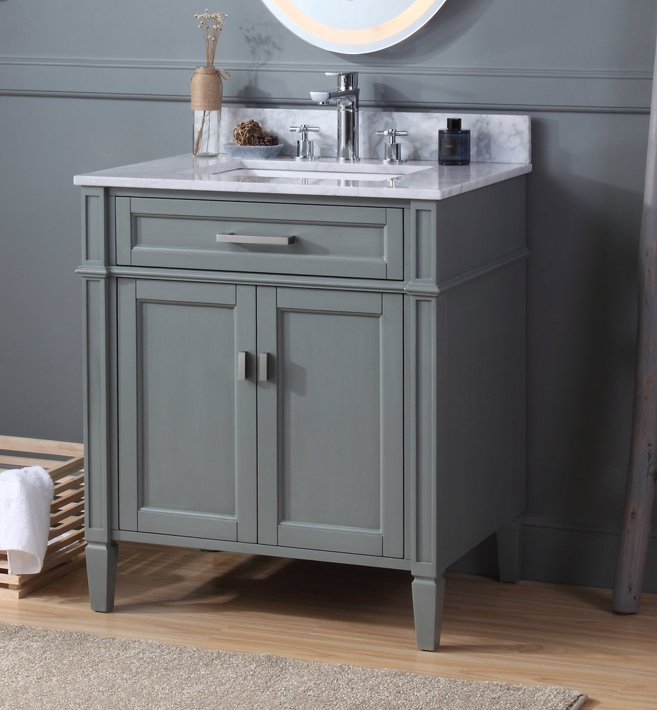 "Modern 30"" Tennant Brand Durand Bathroom Sink Vanity with ..."