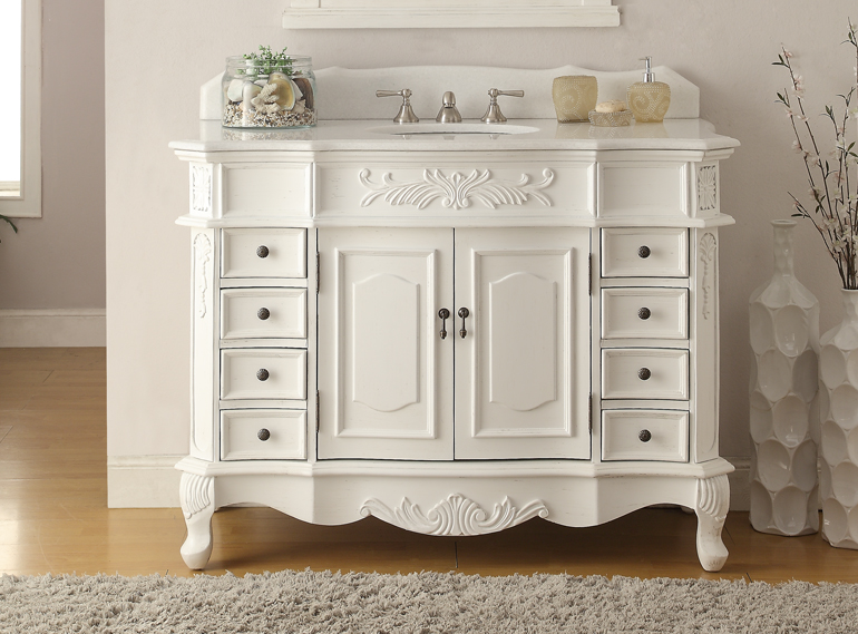 antique white vanity bathroom adelina 48 inch antique white bathroom vanity fully assembled 15418