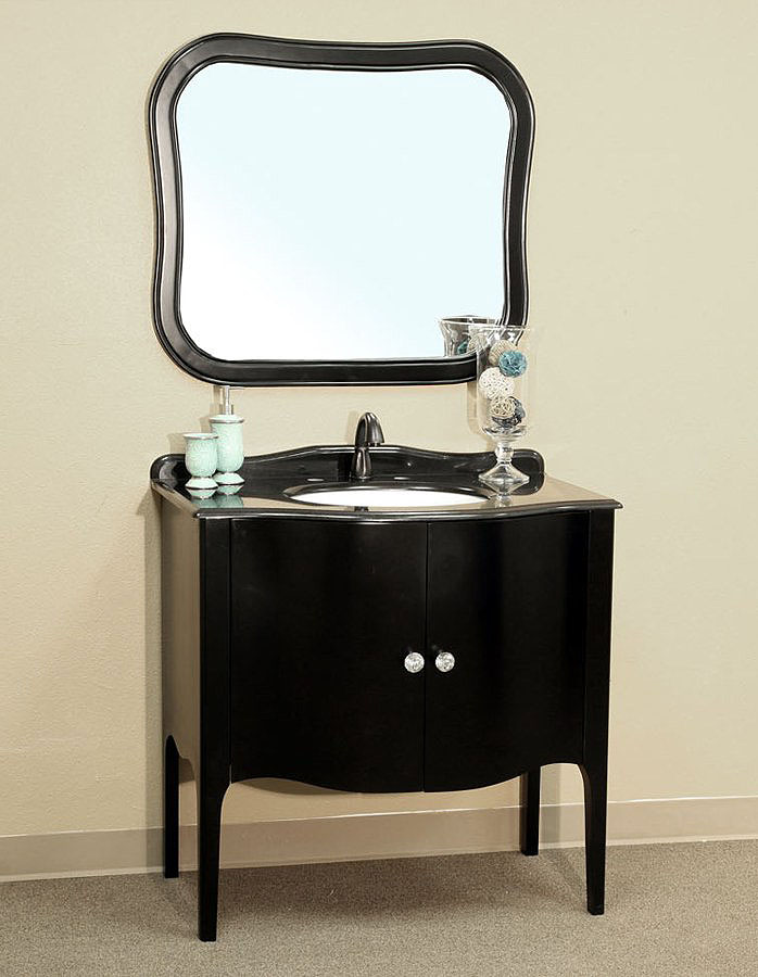 Charmant Bellaterra Home 203037 Black Vanity Bellaterra Home 203037 Black Bathroom  Vanity ...