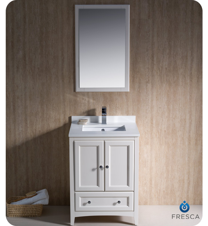 Fresca Oxford 24 Traditional Bathroom Vanity Antique White Finish