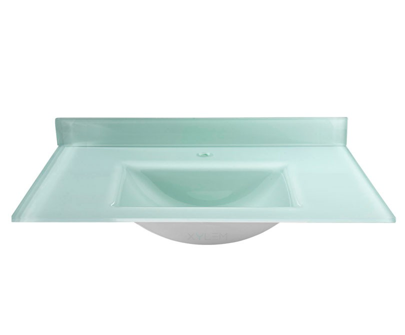 ... Wall Mounted Bathroom Vanity Console Mounted Glass Sink ...
