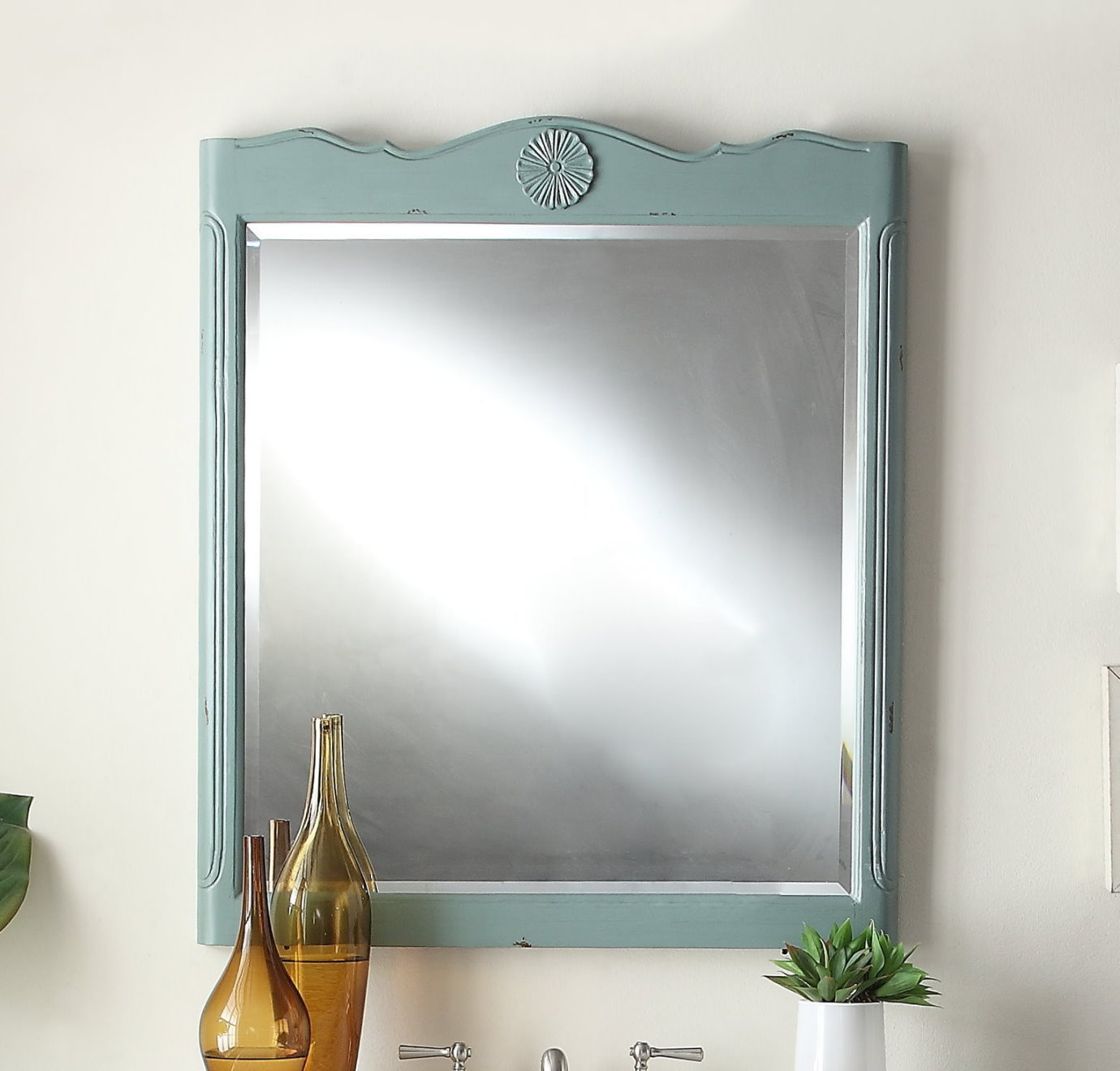 Light Blue Finish MirrorAdelina 42 inch Antique Cottage Bathroom Vanity Light Blue Finish  . Mirror Size For 36 Vanity. Home Design Ideas