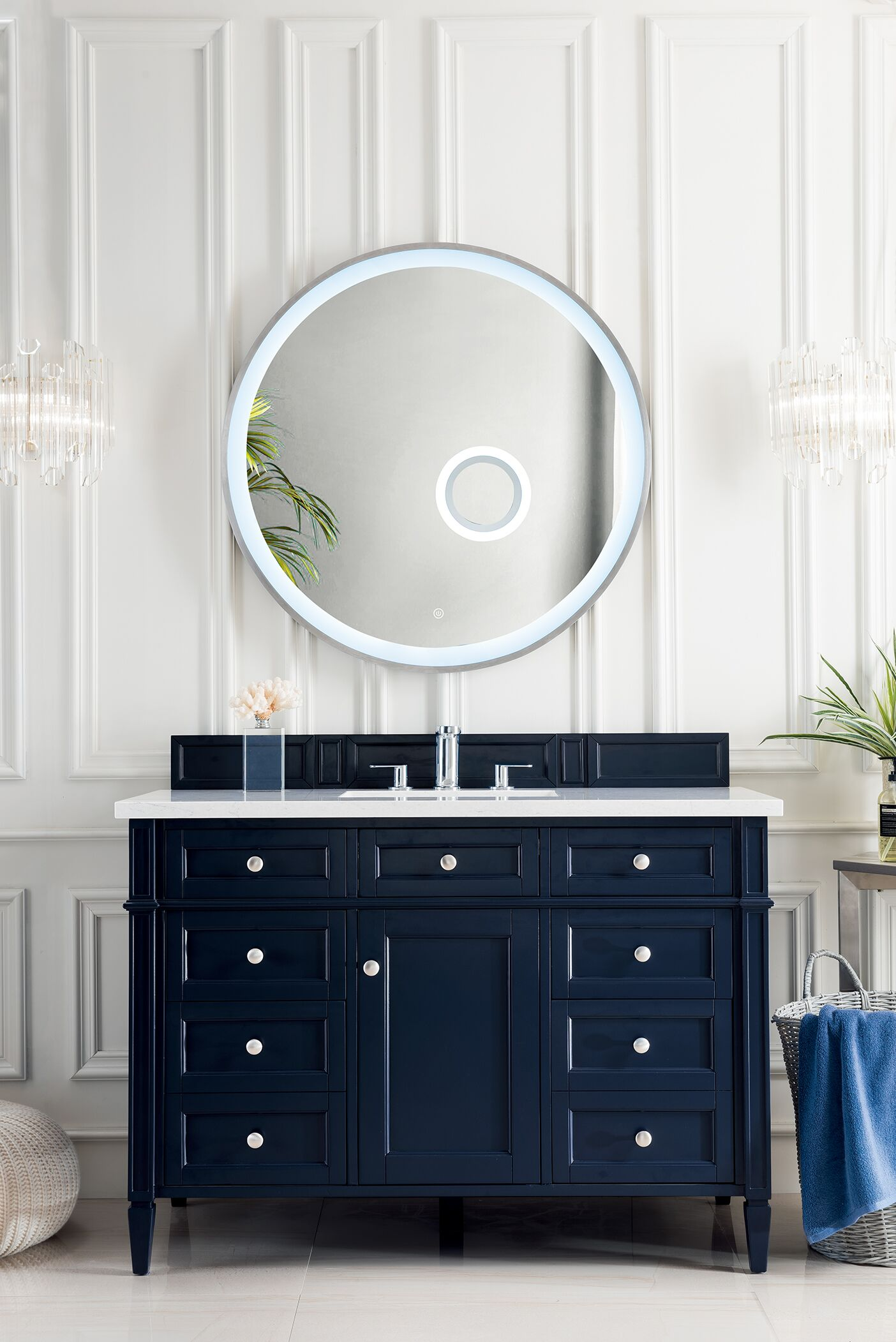 """James Martin Brittany Collection 48"""" Single Vanity, Victory Blue"""