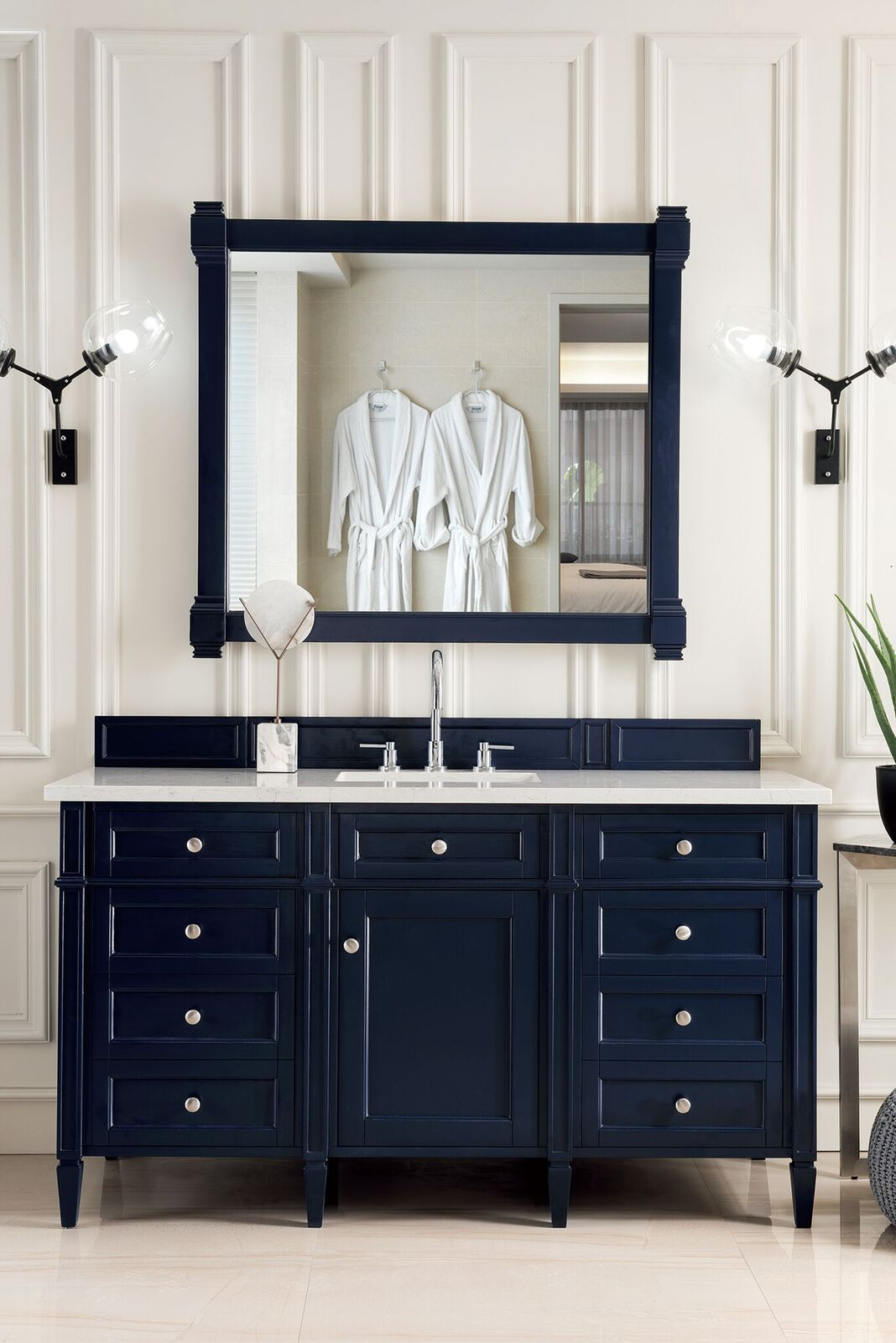 "James Martin Brittany Collection 60"" Single Vanity, Victory Blue"