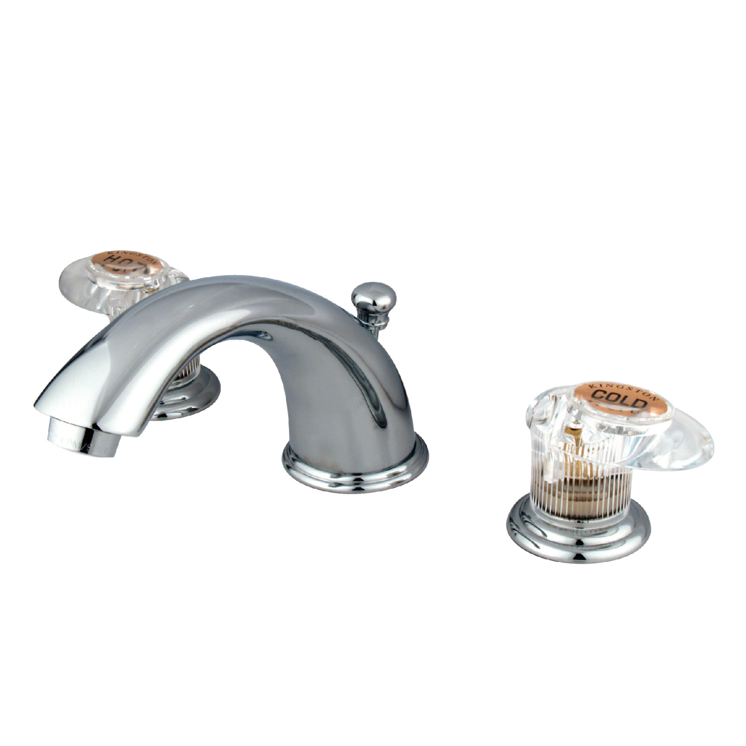 Traditional 2-Handle 3-Hole Deck Mounted Widespread Bathroom Faucet with Plastic Pop-Up in Polished Chrome with 4 Color Option