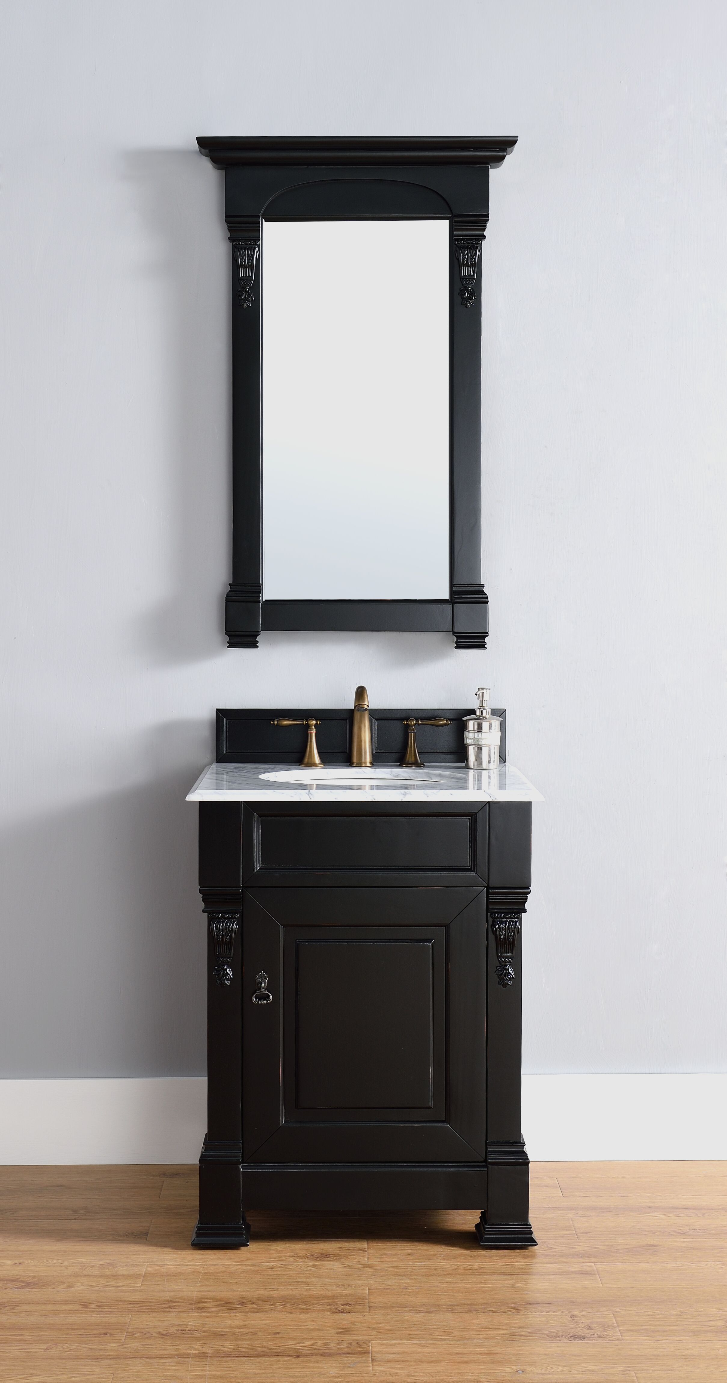 """James Martin Brookfield Collection 26"""" Single Cabinet, Antique Black"""