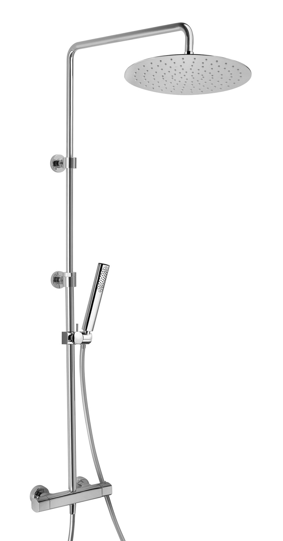 Adjustable Thermostatic Valve Shower Column With Hand Shower in Chrome