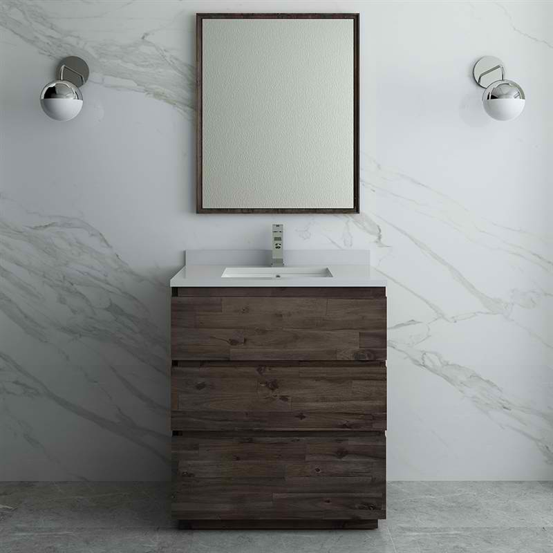 "30"" Floor Standing Modern Bathroom Vanity w/ Mirror"