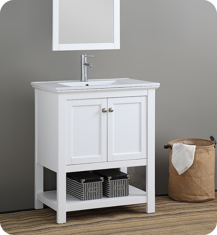 """30"""" Traditional Bathroom Vanity with Color Options"""