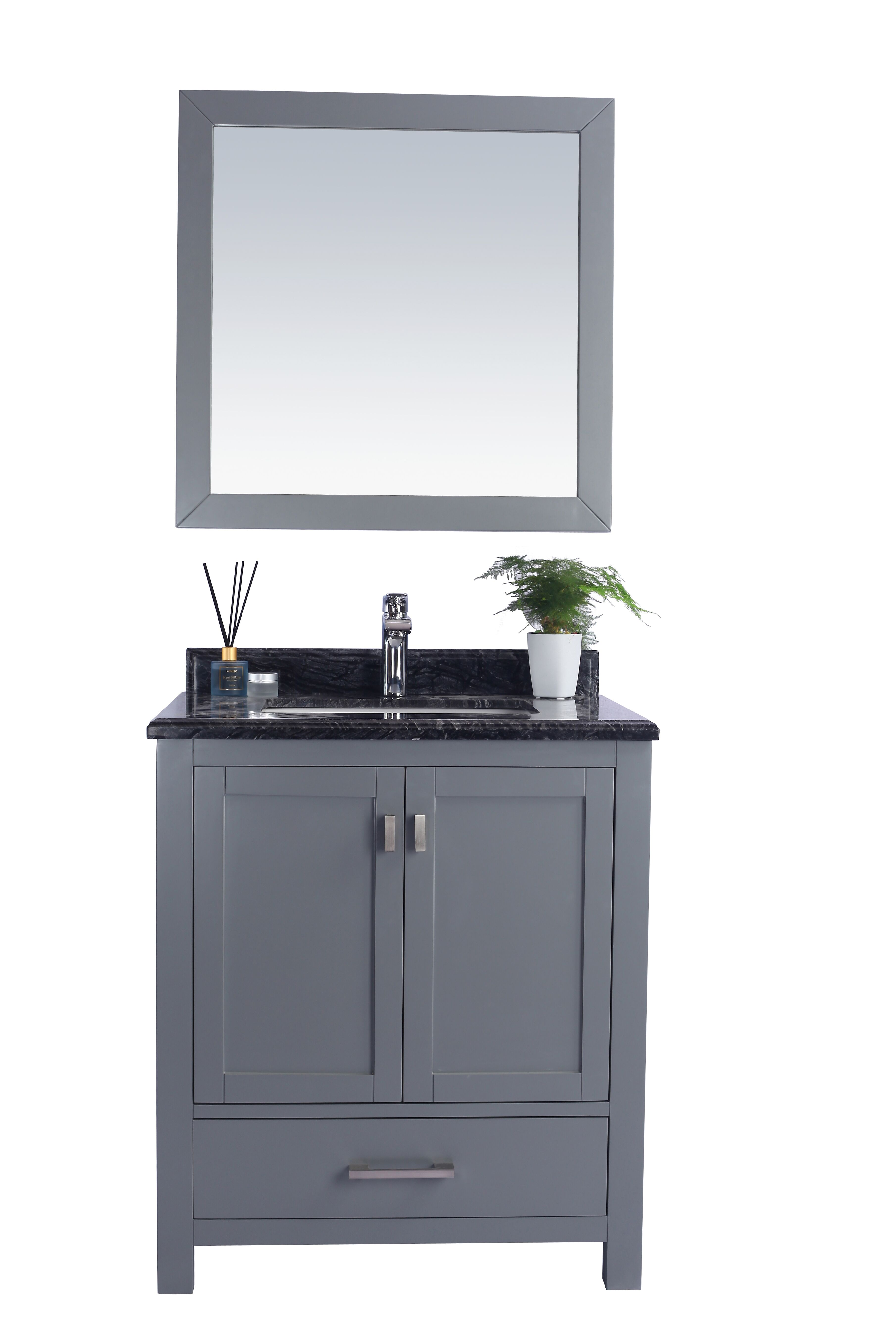 """30"""" Single Sink Bathroom Vanity Cabinet + Top and Color Options"""