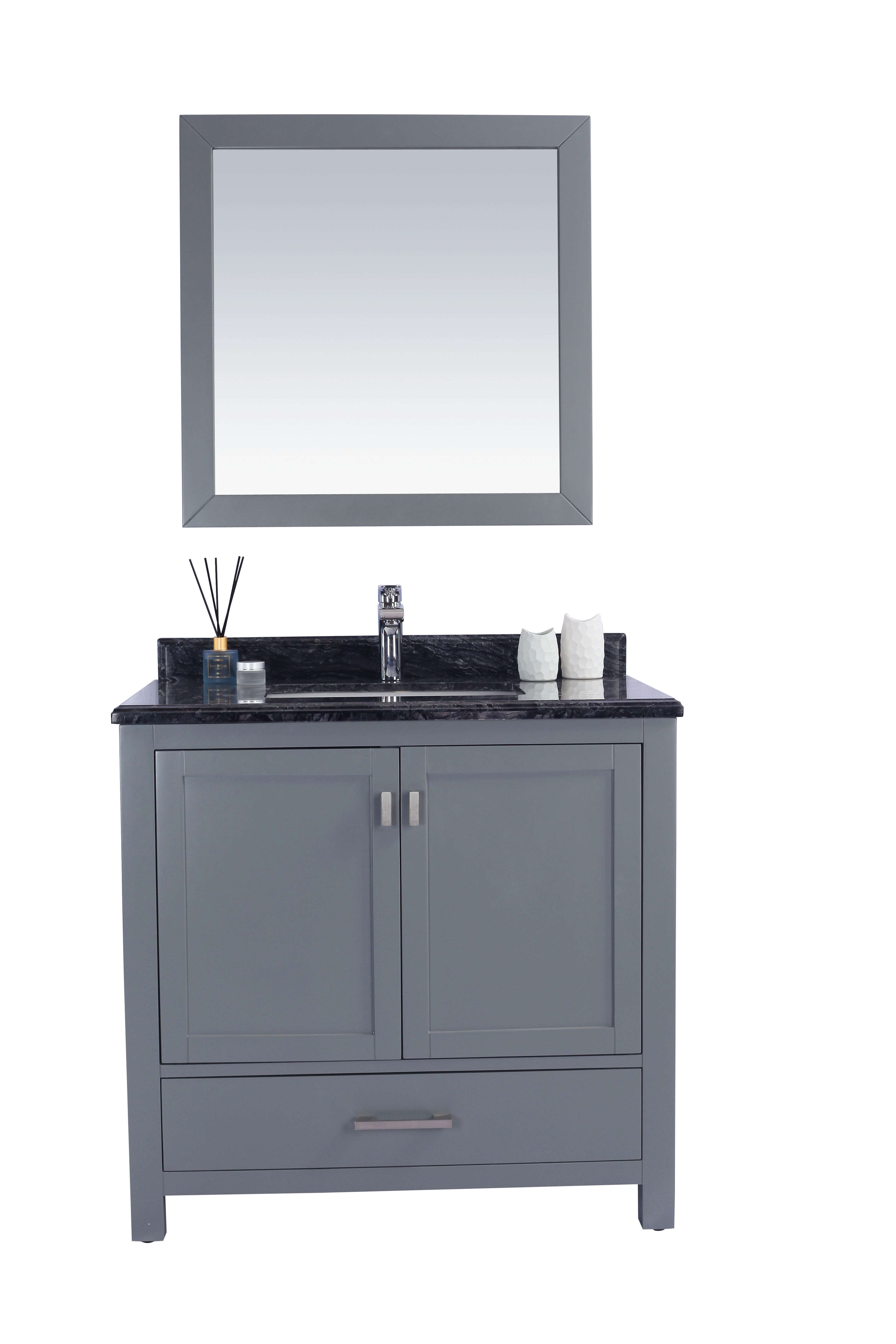 "36"" Single Sink Bathroom Vanity Cabinet + Top and Color Options"