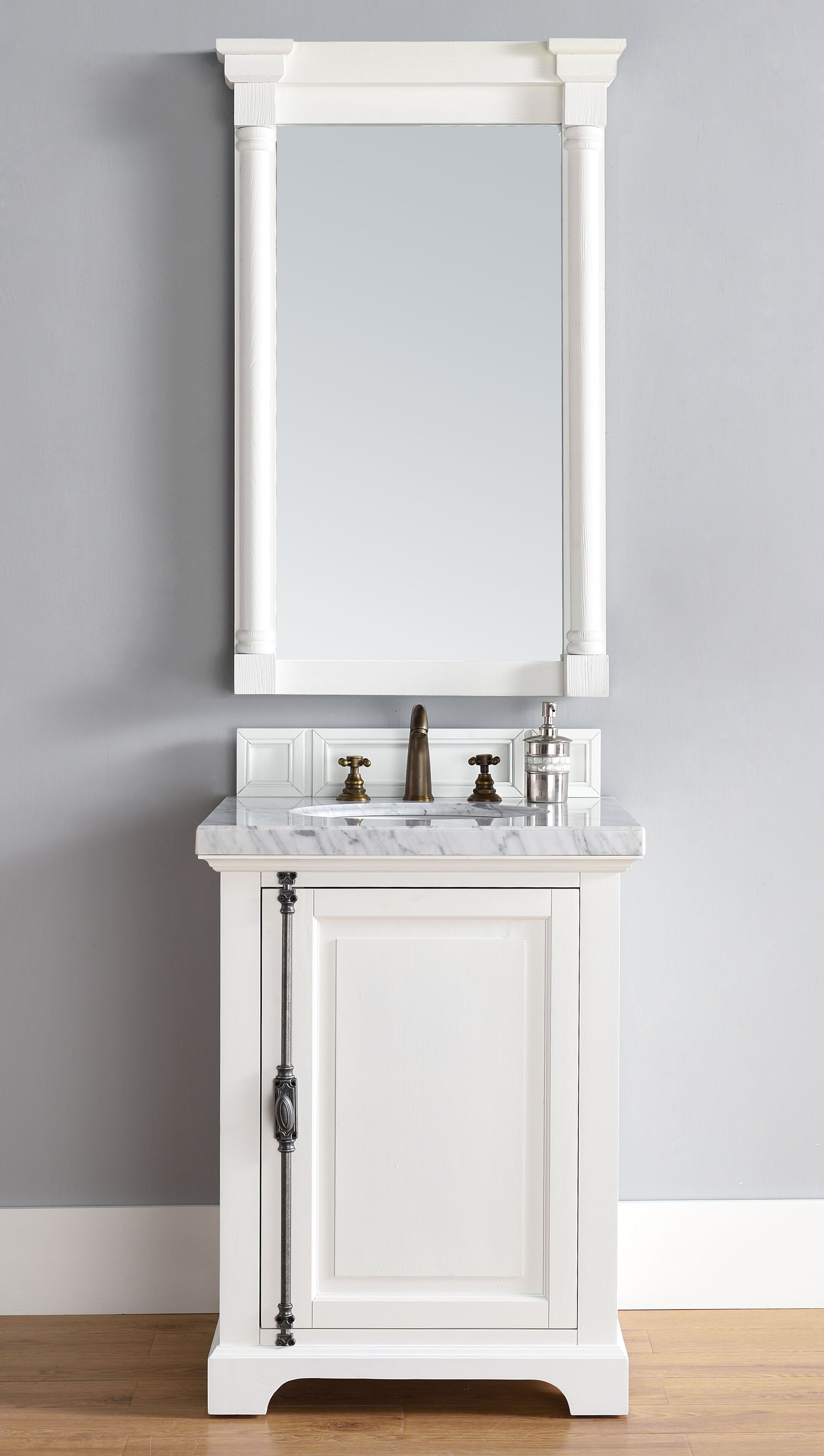 "James Martin Providence Collection 26"" Single Vanity Cabinet, Cottage White Finish"