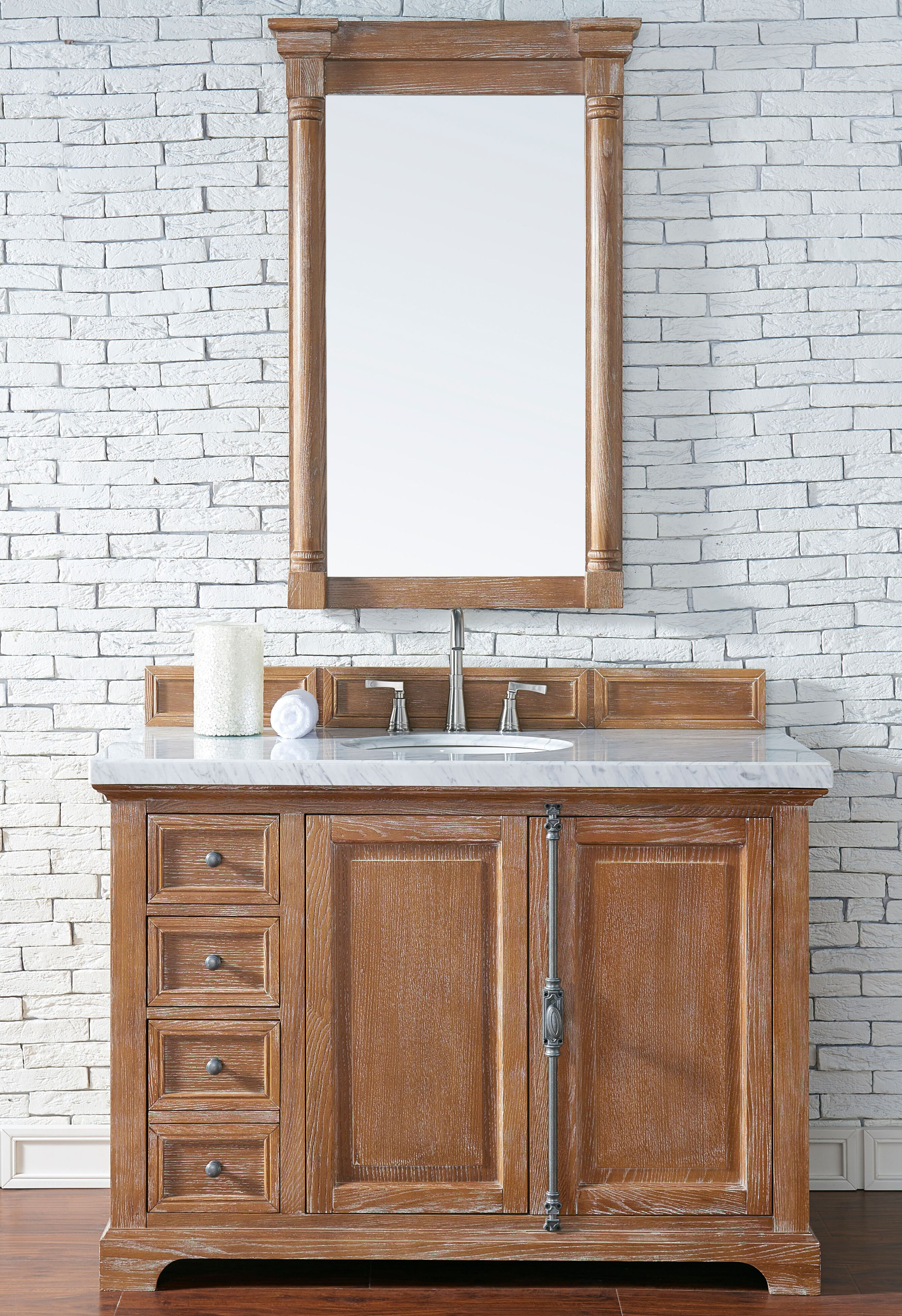 """James Martin Providence Collection 48"""" Single Vanity Cabinet, Driftwood Finish"""