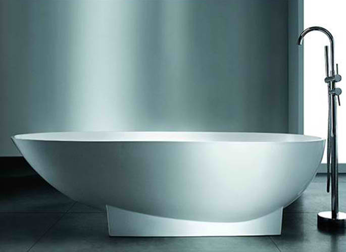 Whirlpools 37 x 72 Artificial Stone Freestanding Bathtub