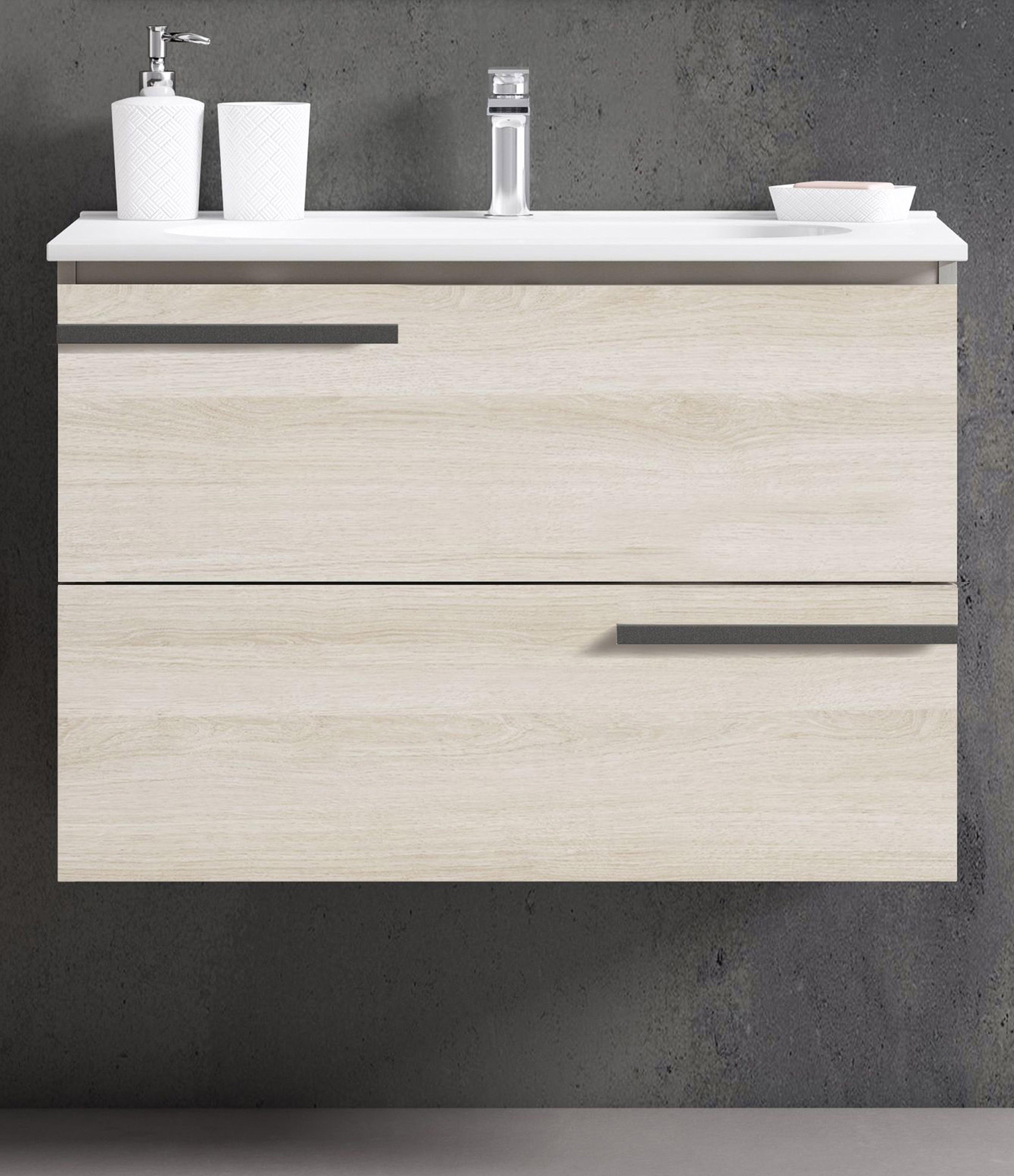 "32"" Single Sink Vanity 2 Drawer Ceramic Sink with 4 Color Options"