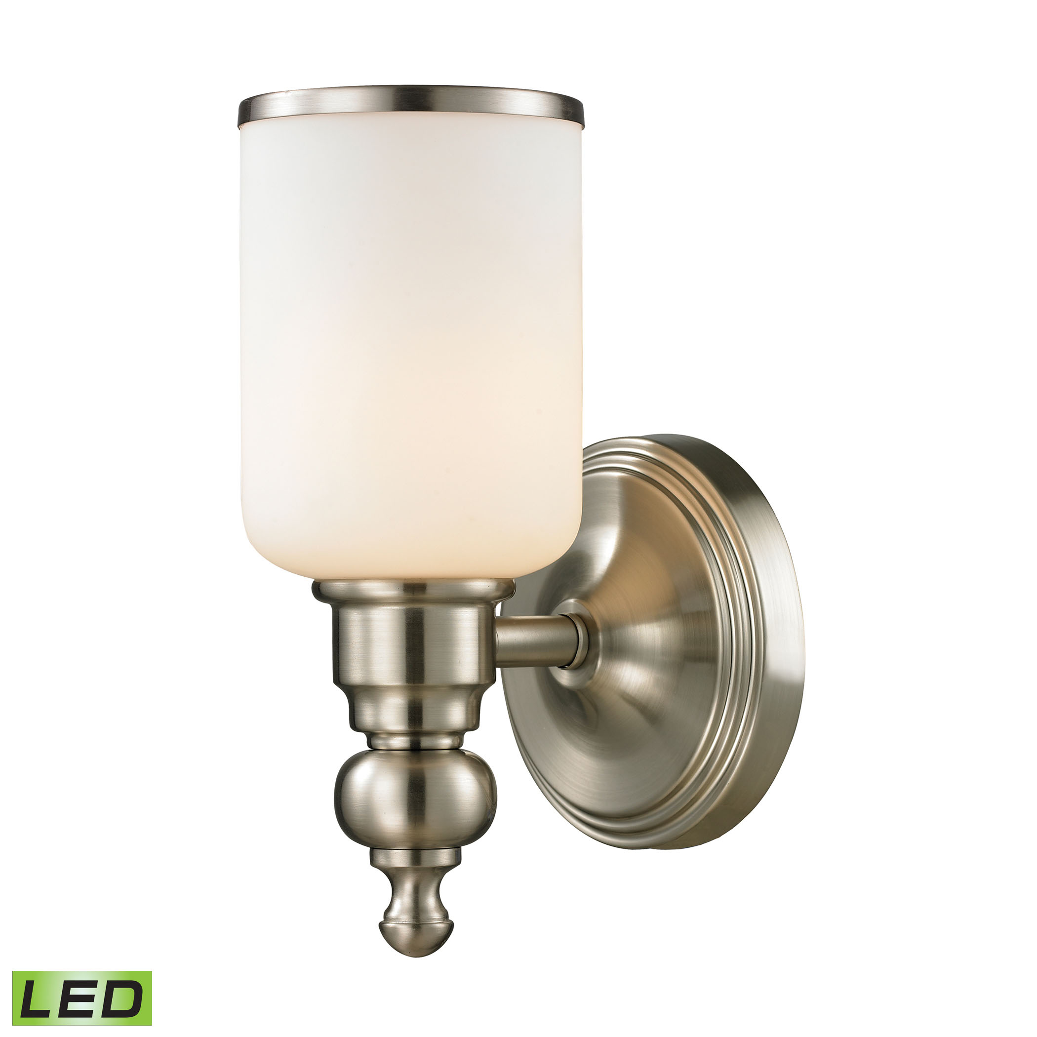 Bristol Collection 1 light bath in Brushed Nickel - LED Offering Up To 800 Lumens (60 Watt Equivalent)