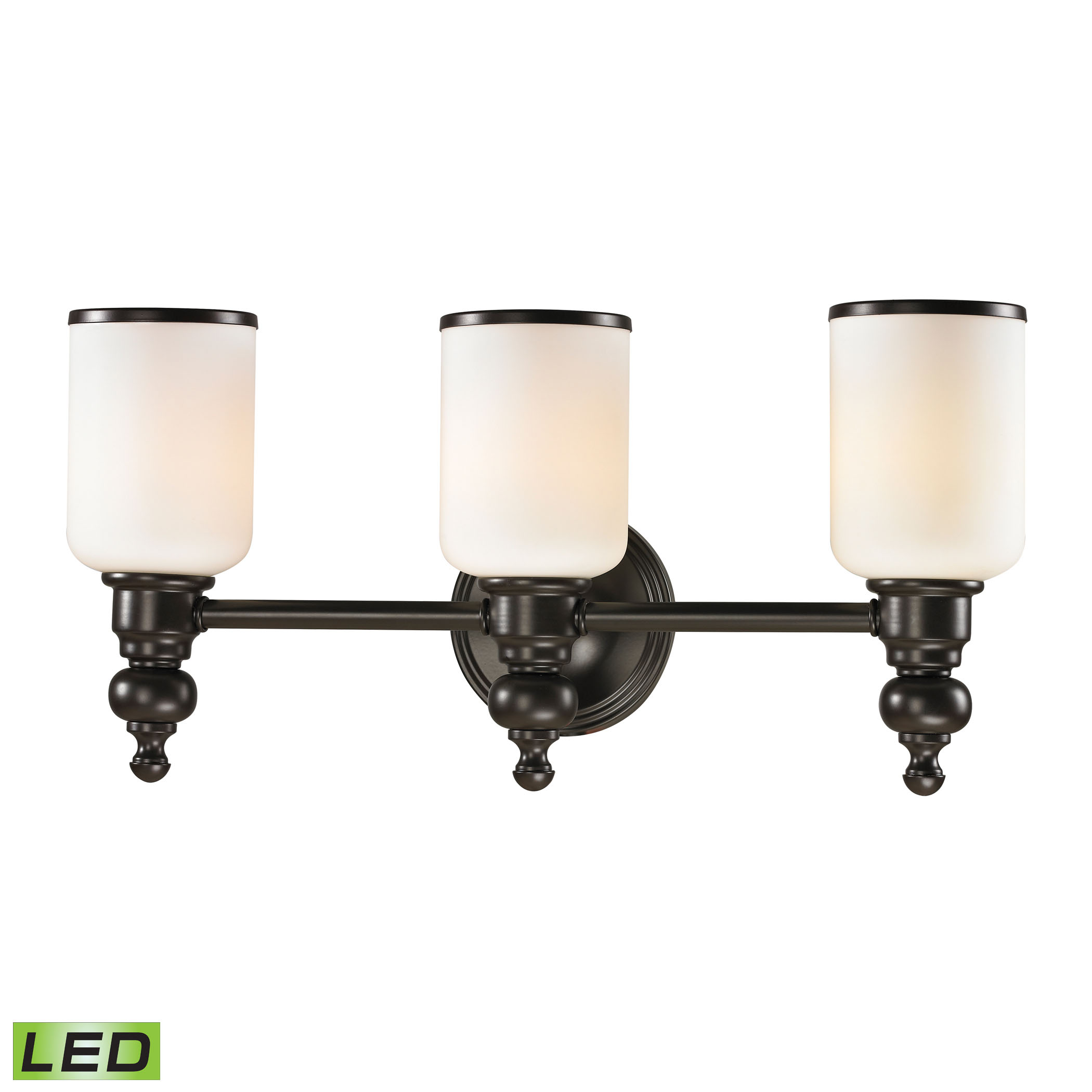 Bristol Collection 3 Light Bath in Oil Rubbed Bronze - LED, 800 Lumens (2400 Lumens Total) with Full