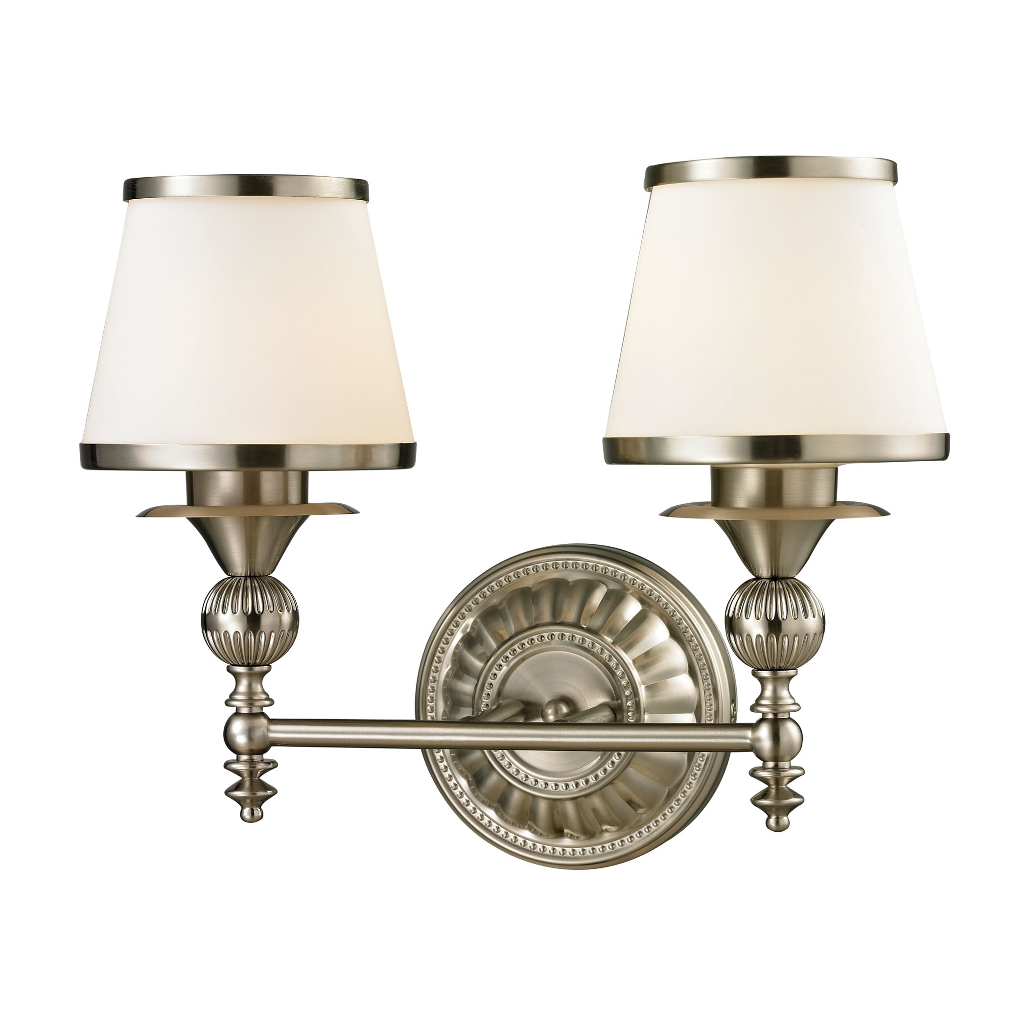 Smithfield Collection 2 light bath in Brushed Nickel