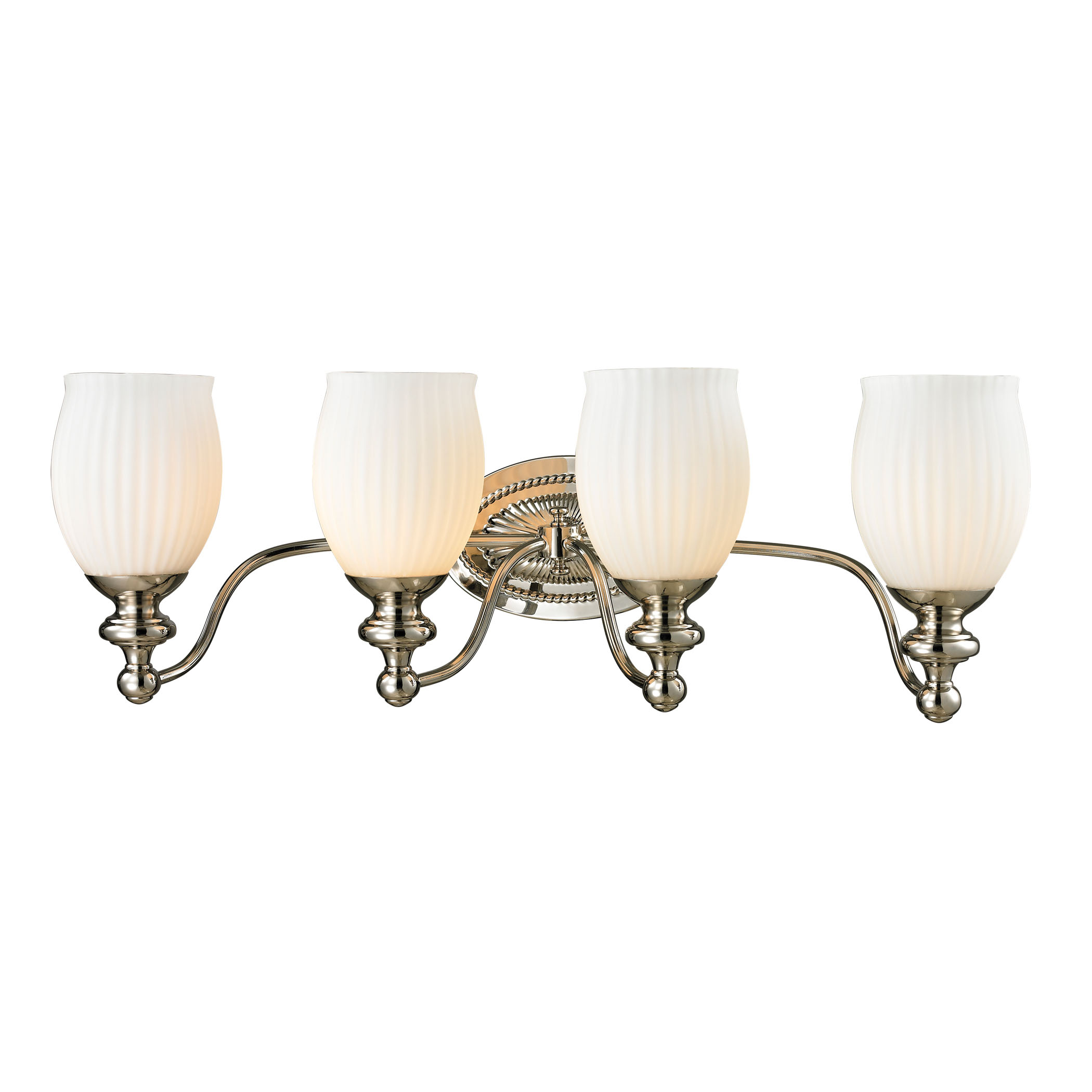 Park Ridge Collection 4 Light Bath in Polished Nickel