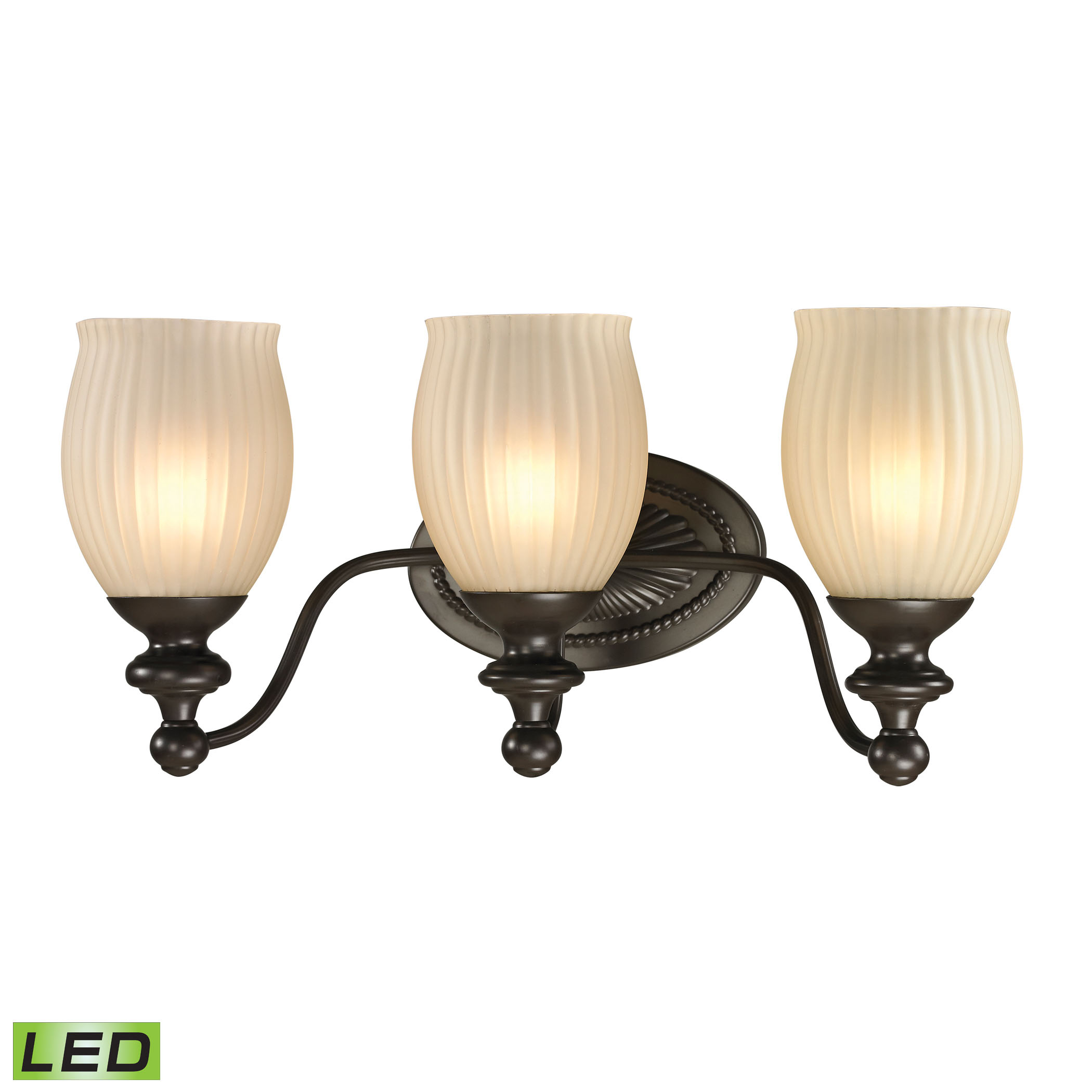 Park Ridge Collection 3 Light Bath in Oil Rubbed Bronze - LED, 800 Lumens (2400 Lumens Total) with F