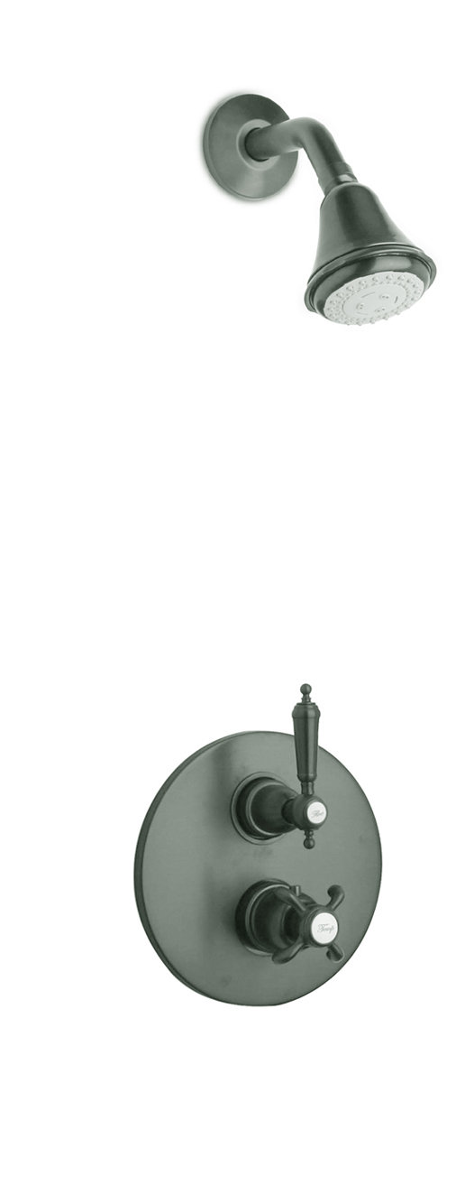 """Thermostatic Shower With 3/4"""" Ceramic Disc Valve with 3 Color Options"""