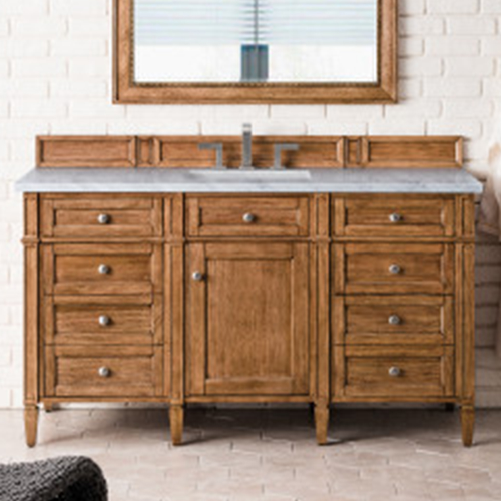 """James Martin Brittany Collection 60"""" Saddle Brown Single Vanity"""