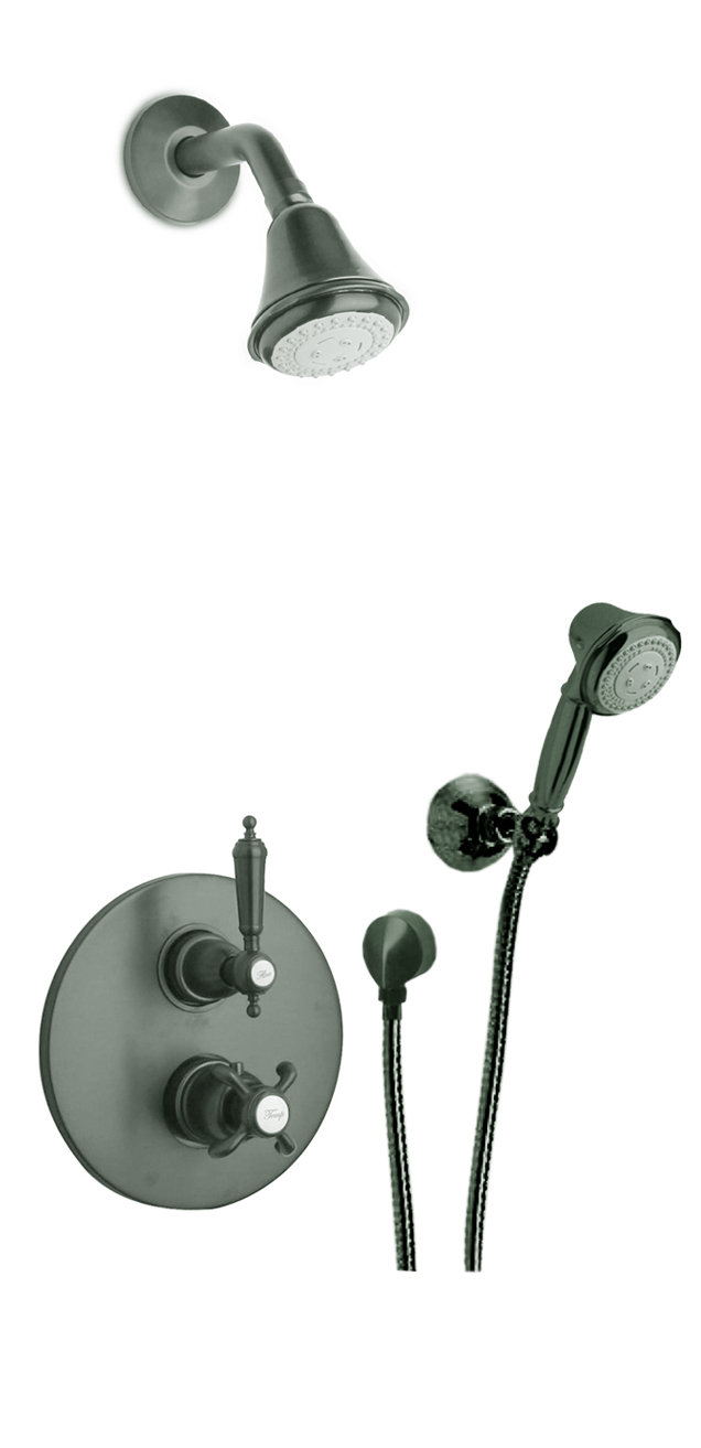 Thermostatic Shower With 2-Way Diverter Volume Control and Hand-Shower in 3 Color Options