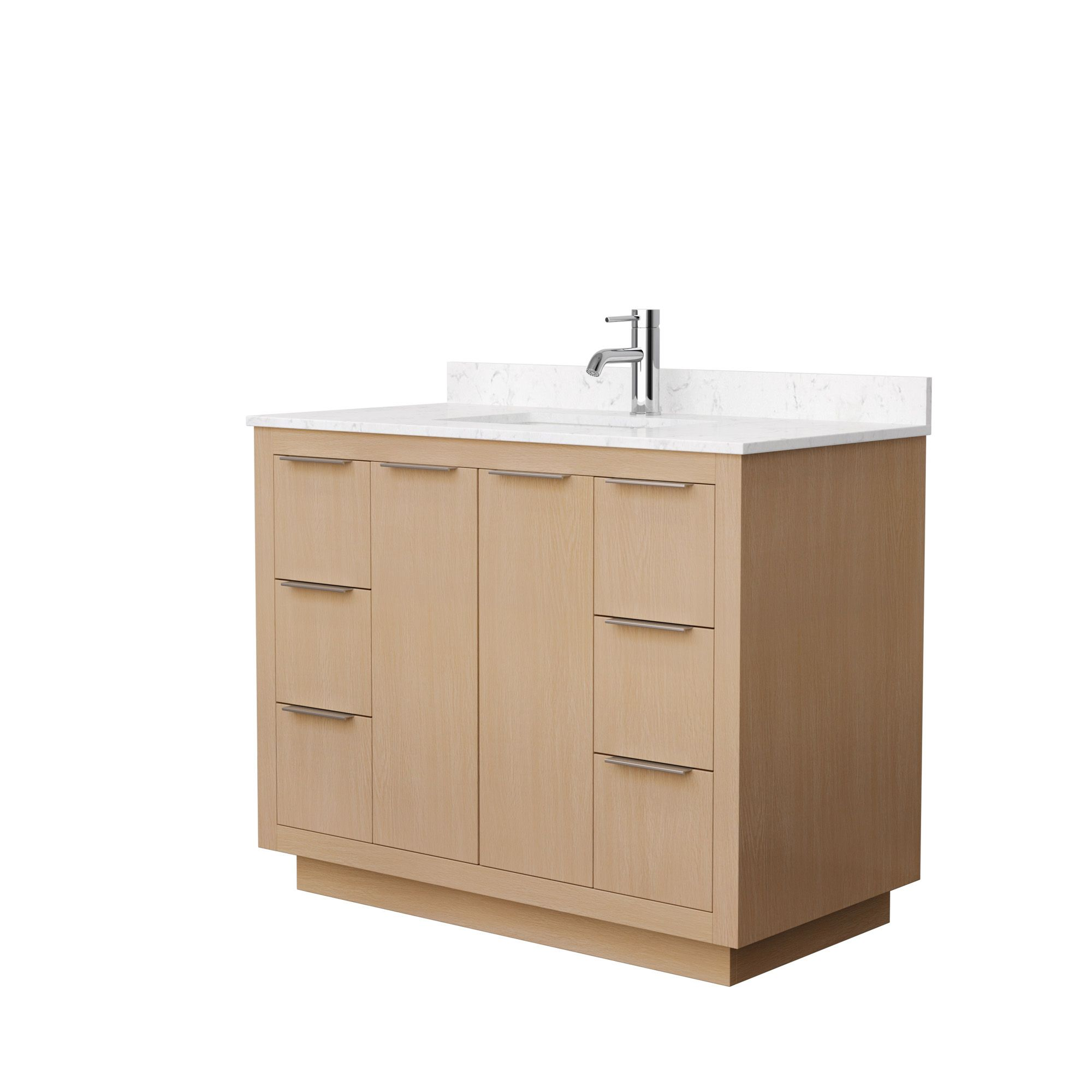 """42"""" Single Bathroom Vanity in Light Straw with Countertop and Hardware Options"""
