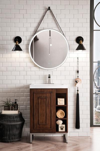 """James Martin Alicante 24"""" Single Vanity Cabinet, Mid Century Acacia"""