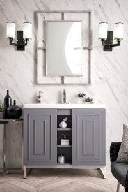 "James Martin Alicante' 39.5"" Single Vanity Cabinet, Grey Smoke"