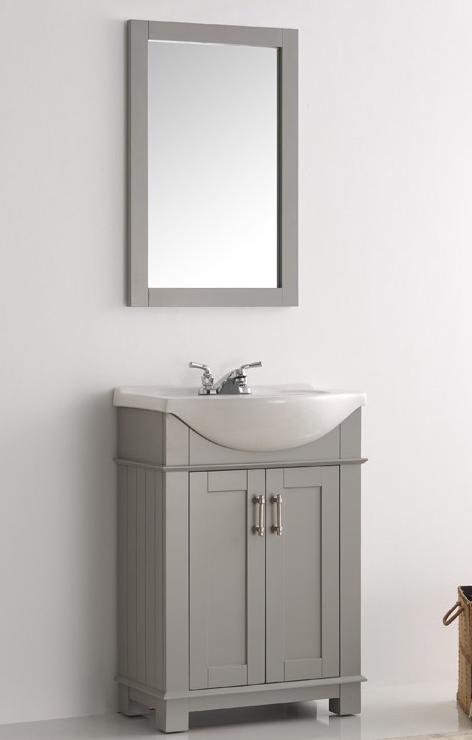 Fresca Hartford 24 Inch Gray Finish Transitional Bathroom